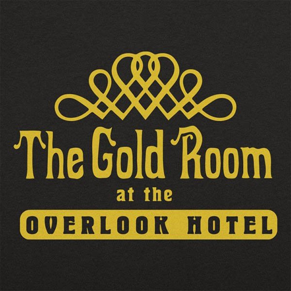 A graphic flourish above the words The Gold Room at the Overlook Hotel
